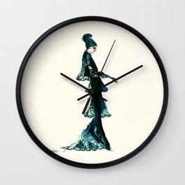 Vintage Vogue - Diesel Blue Fashion Dress Wall Clock