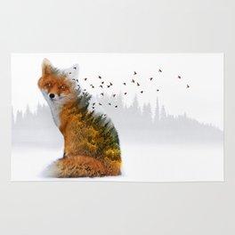 Wild I Shall Stay   Fox Rug
