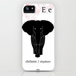 E/Elephant iPhone Case