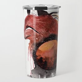Tetrad the Bloodmoon Fox Travel Mug