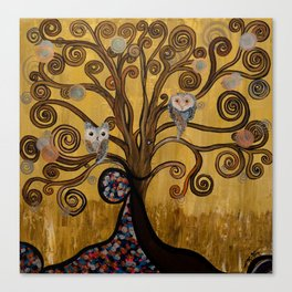 Original Acrylic Artwork By MiMi Stirn -  HooMasters Collection -HooKlimt #414 Canvas Print