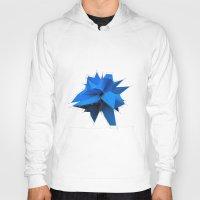 polygon Hoodies featuring Blue Polygon by error23