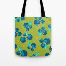 Blueberries | Green Tote Bag