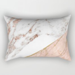 Marble rose gold blended Rectangular Pillow