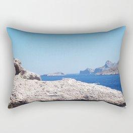 White Hills, Blue Water Rectangular Pillow