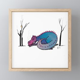 Let Sleeping Dragons Lie Framed Mini Art Print