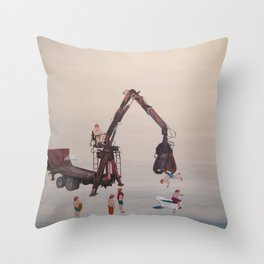 the shower Throw Pillow