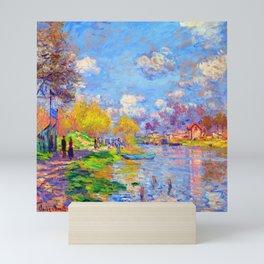 Claude Monet Spring on the Seine Mini Art Print