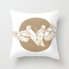 In which birds fight in a different colour Throw Pillow