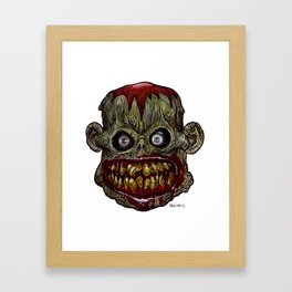 Heads of the Living Dead Zombies: Hungry Harold Zombie Framed Art Print