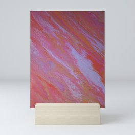 pink skies marble Mini Art Print