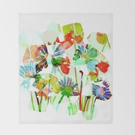 spring bouquet Throw Blanket