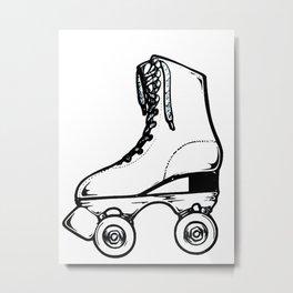 Roller Skate Metal Print