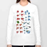 robots Long Sleeve T-shirts featuring Robots by Artysmedia