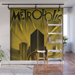 "Vintage 1927 ""Metropolis"" Movie Lithograph Advertisement Poster Wall Mural"