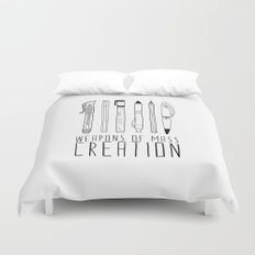 weapons of mass creation Duvet Cover