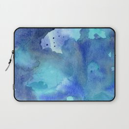 Blue Abstract Watercolor Painting Laptop Sleeve