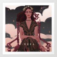 Greek Mythology Hera Art Print