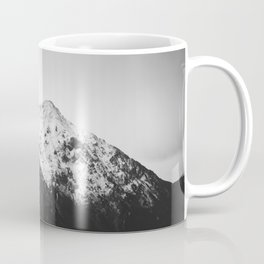 Black and white snowy mountain Coffee Mug