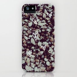 charcoal seashell pattern iPhone Case