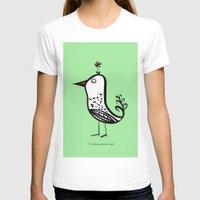 korean T-shirts featuring korean alphabet bird by lemonluna