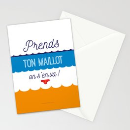 Prends ton maillot ! Stationery Cards