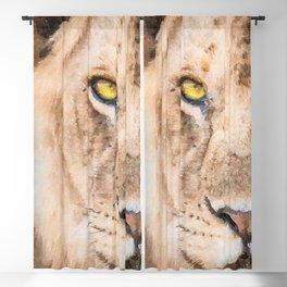 Lion watercolor painting #3 Blackout Curtain