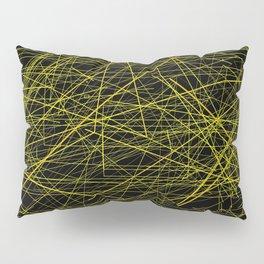 Industrial Design yellow black laser light ray night scaffolding Angelis Pillow Sham