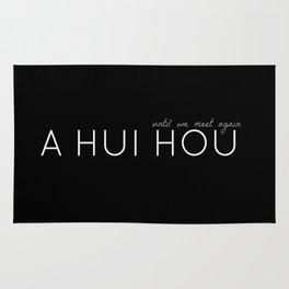 A HUI HOU (BLACK) UNTIL WE MEET AGAIN Rug