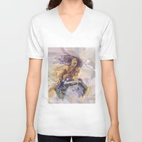 eddie vedder V-neck T-shirts featuring Eddie Descending A Staircase by Dace Likethefish