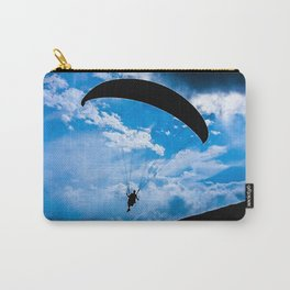 paragliding blue Carry-All Pouch