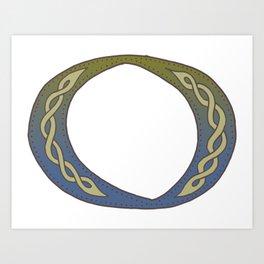 Celtic Knotwork Alphabet - Letter O Art Print