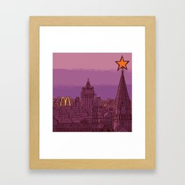 Fast Food Moscow (January 31, 1990) Framed Art Print