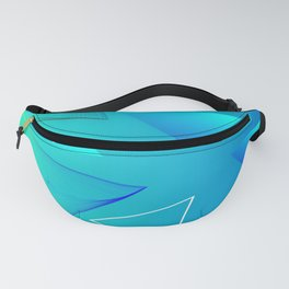 Aqua Triangle Abstract Art Design Fanny Pack