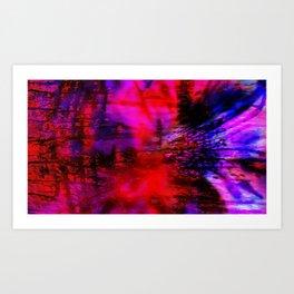 La Vie en Rose...et Rouge, et Noire, et Bleu. Art Print