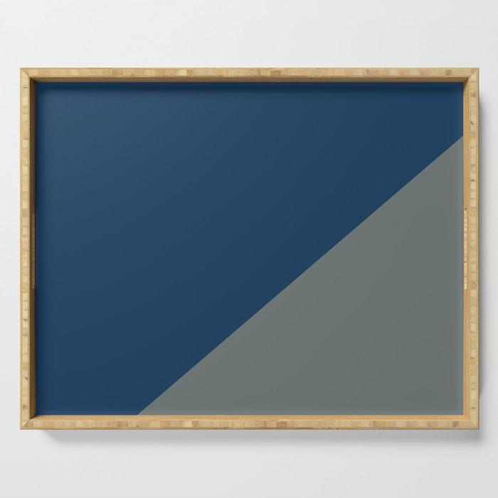 Dark blue & Metal Grey - 2 color oblique Serving Tray