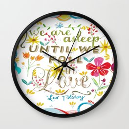Until We Fall In Love Wall Clock