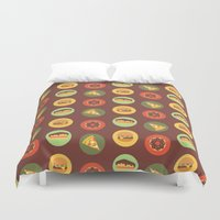 food Duvet Covers featuring Food by Elly Whiley