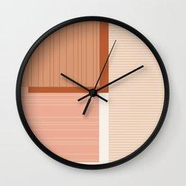 Shiba in Terracotta Wall Clock