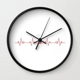Pulse Heartbeat - Badminton Design Wall Clock