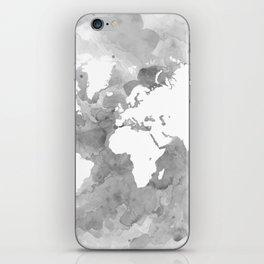 Design 49 Grayscale World Map iPhone Skin