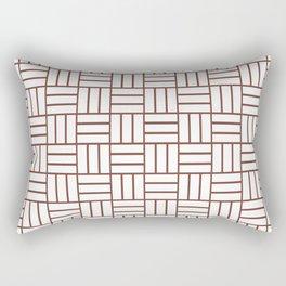 Basketweave (Brown & White Pattern) Rectangular Pillow