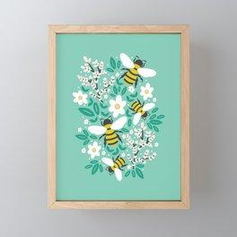 Blooms & Bees Framed Mini Art Print