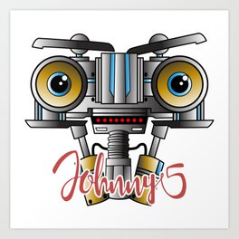Johnny 5 Short Circuit Art Print