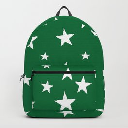 Hand-Drawn Stars (White & Olive Pattern) Backpack