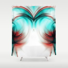 abstract fractals mirrored reac2si Shower Curtain