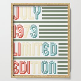 July Cool Vintage Retro Birthday Gift For Your Wife And Husband For Their 40th Birthday Natal Day Serving Tray