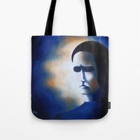 poe Tote Bags featuring POE by Sophie Klimos