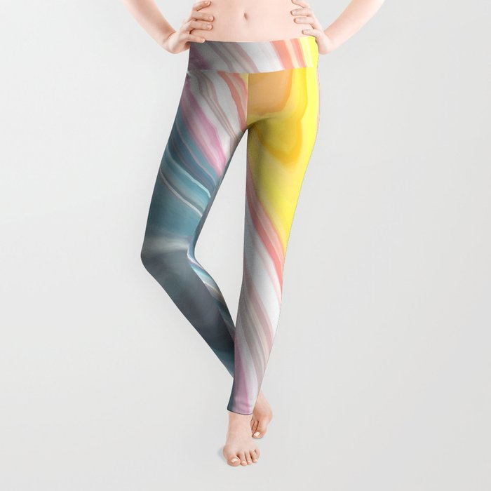 Marble Waves Leggings