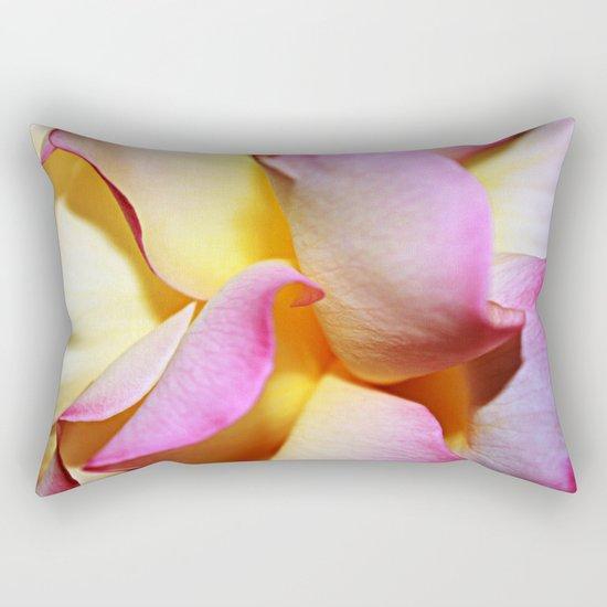 Peace Rose Petals Rectangular Pillow